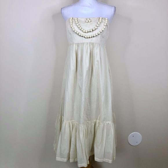 GAP Dresses & Skirts - GAP Pom Pom Boho Sundress Cream